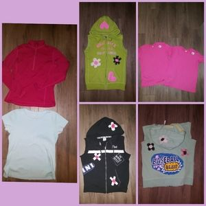 7 Tshirts hoodies upcycled redesigned, Small